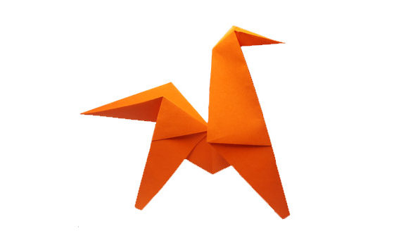 Origami Jumping Horse