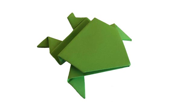 Origami - The jumping frog