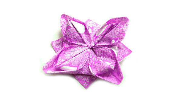 Origami napkins lotus flower