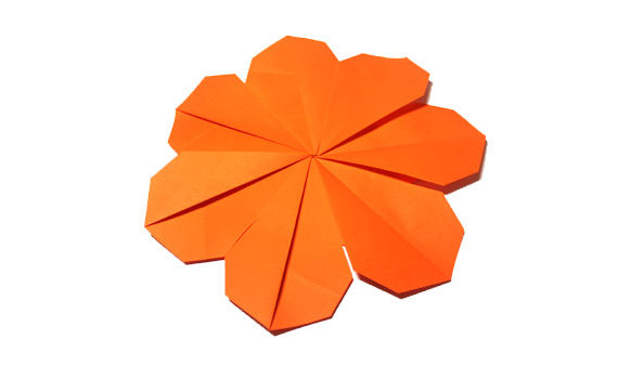 Origami anemone