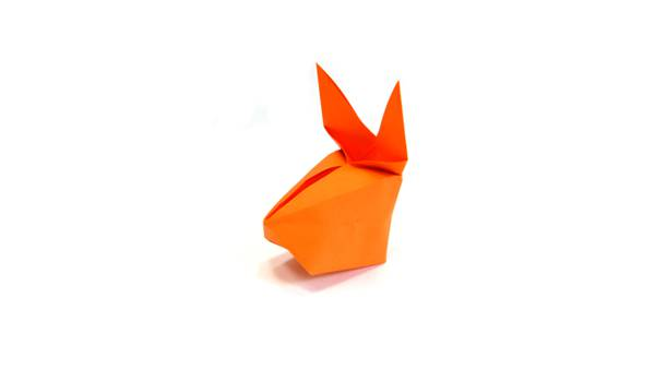 Origami inflatable rabbit