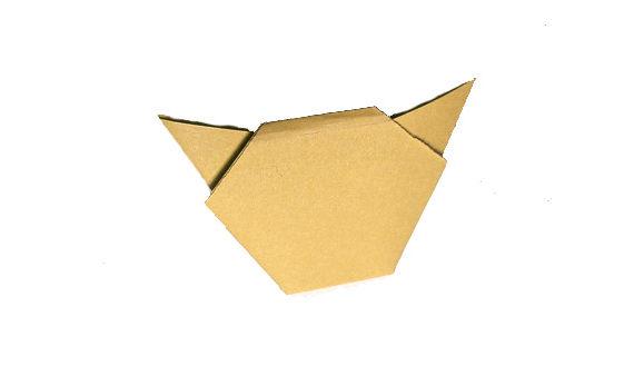 Origami muzzle cat