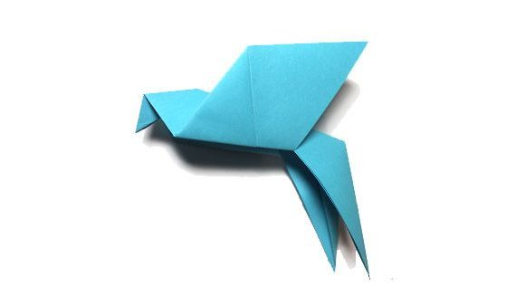 Origami swift bird