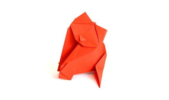Origami angora cat