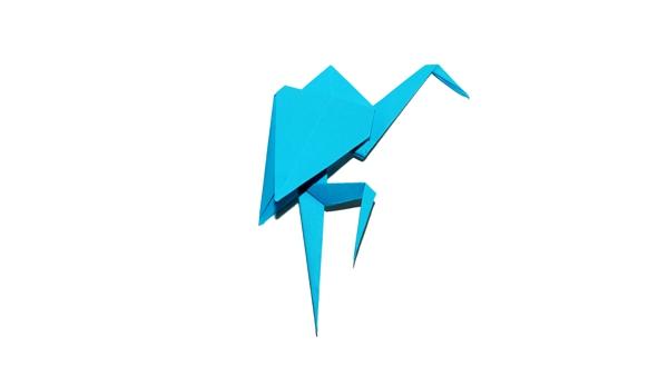 Origami heron