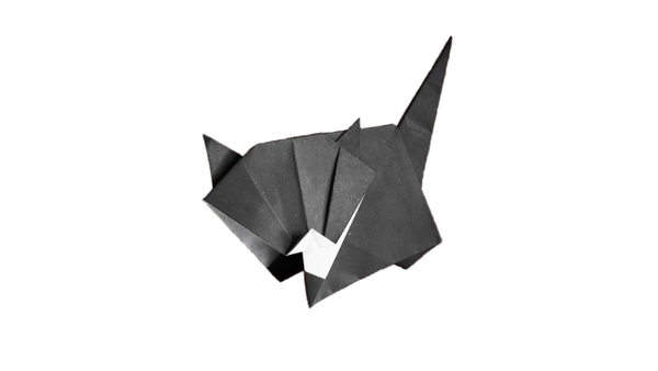 Origami Cat - White Socks