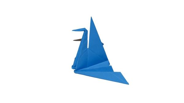 Origami Crane in the nest