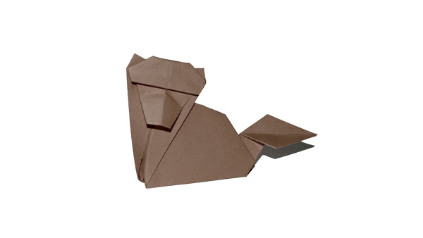 Origami Wolf